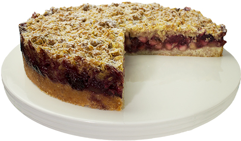 Blackberry And Apple Flan  Large  Gateaux Fruit Cakes