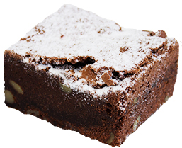 Chocolate Brownie Slice  Individual  Delights Slices
