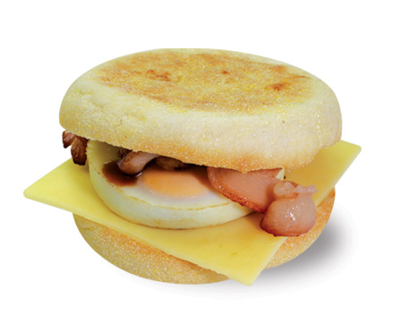 Bacon And Egg Muffin  Large  Savoury Breakfast